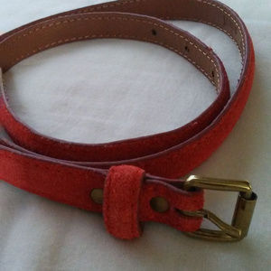 J. crew suede leather belt